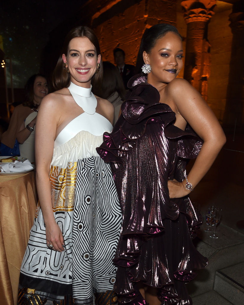 Anne Hathaway and Rihanna attend the 'Ocean's 8' World Premiere After Party on June 5, 2018 in New York City. (Photo by Jamie McCarthy/Getty Images)