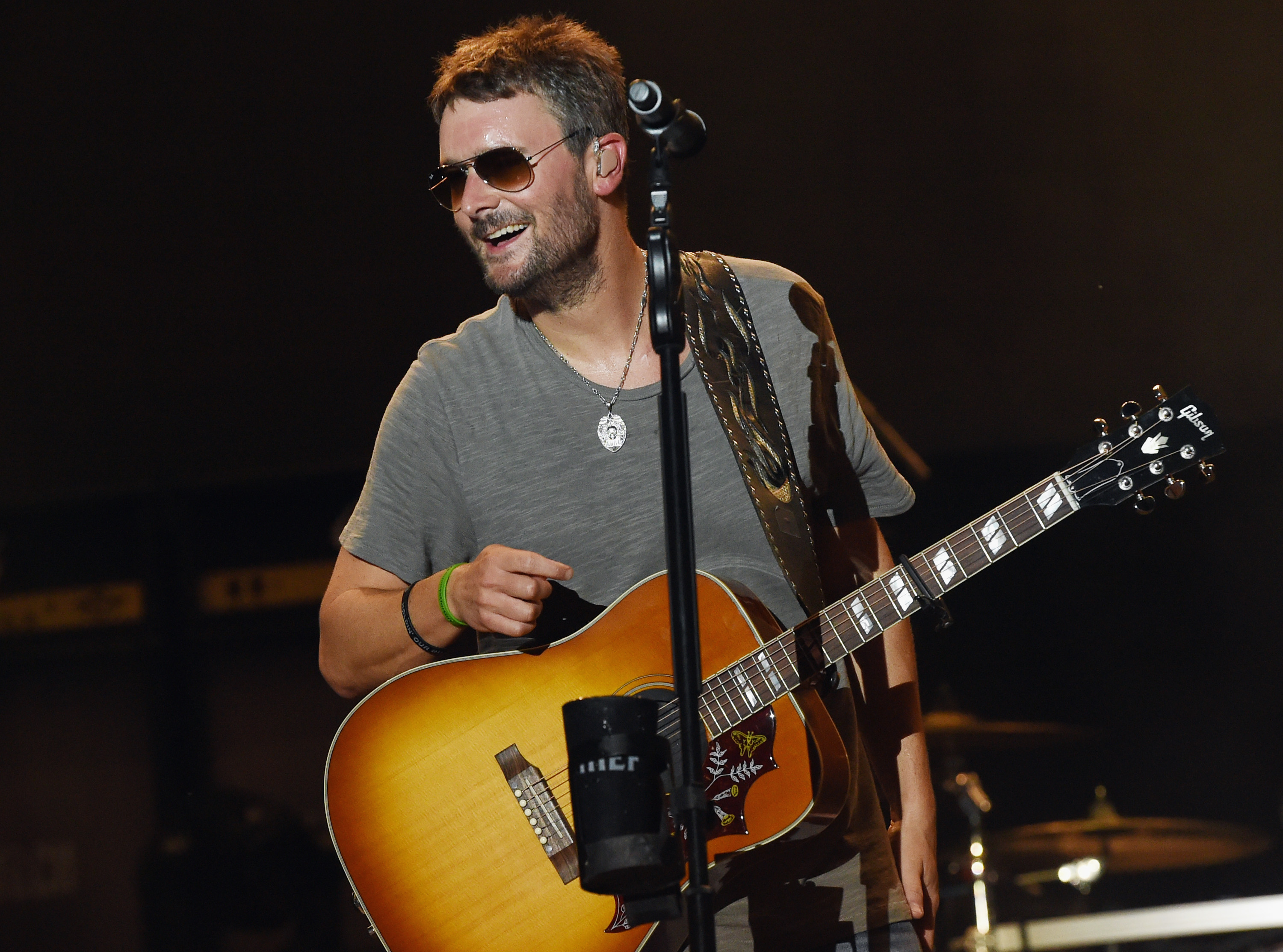Eric Church performs during Pepsi's Rock The South Festival - Day 2 in Heritage Park on June 2, 2018 in Cullman, Alabama.