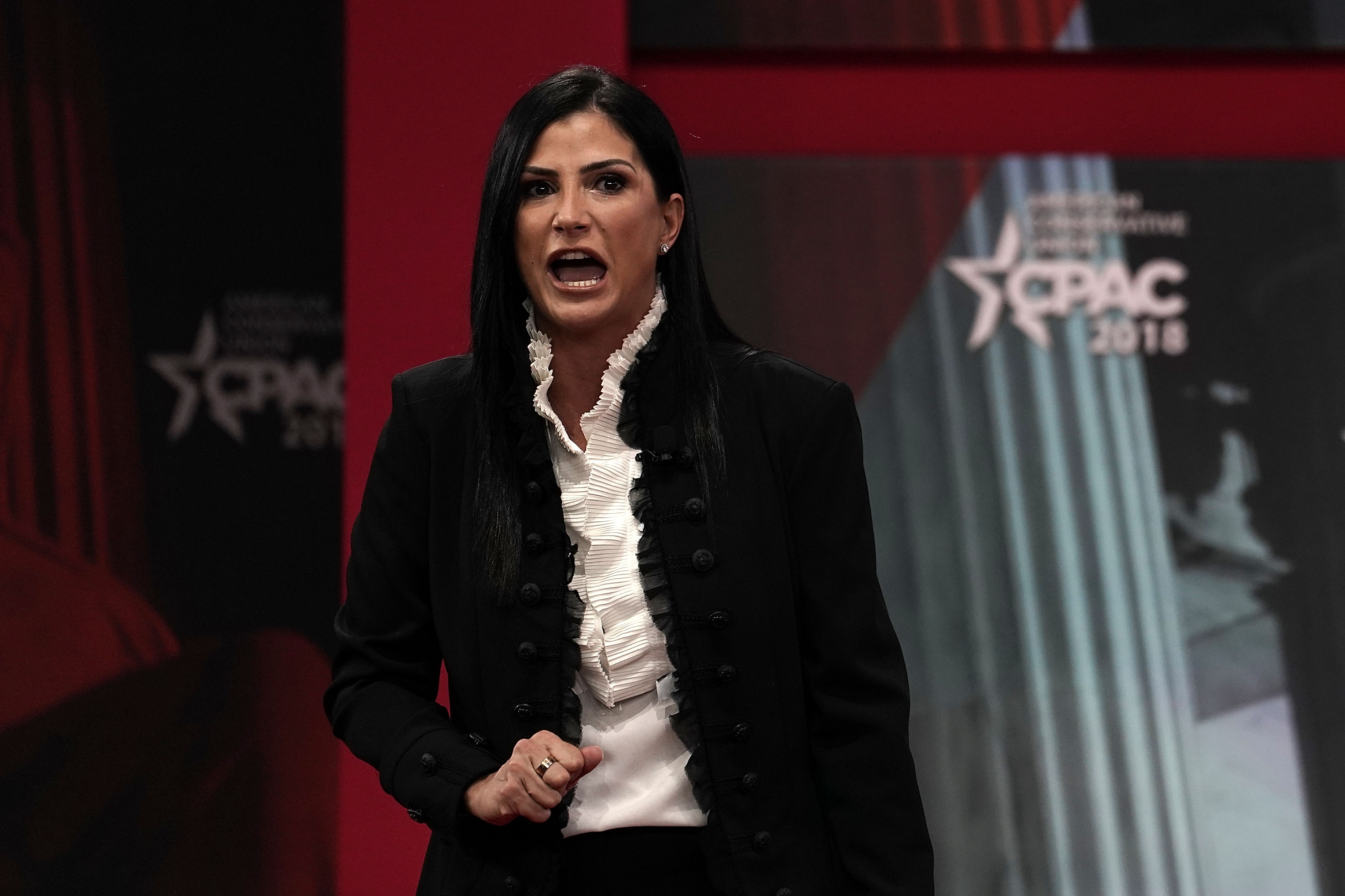 National Rifle Association (NRA) spokeswoman Dana Loesch speaks during CPAC 2018 February 22, 2018 in National Harbor, Maryland. The American Conservative Union hosted its annual Conservative Political Action Conference to discuss conservative agenda.