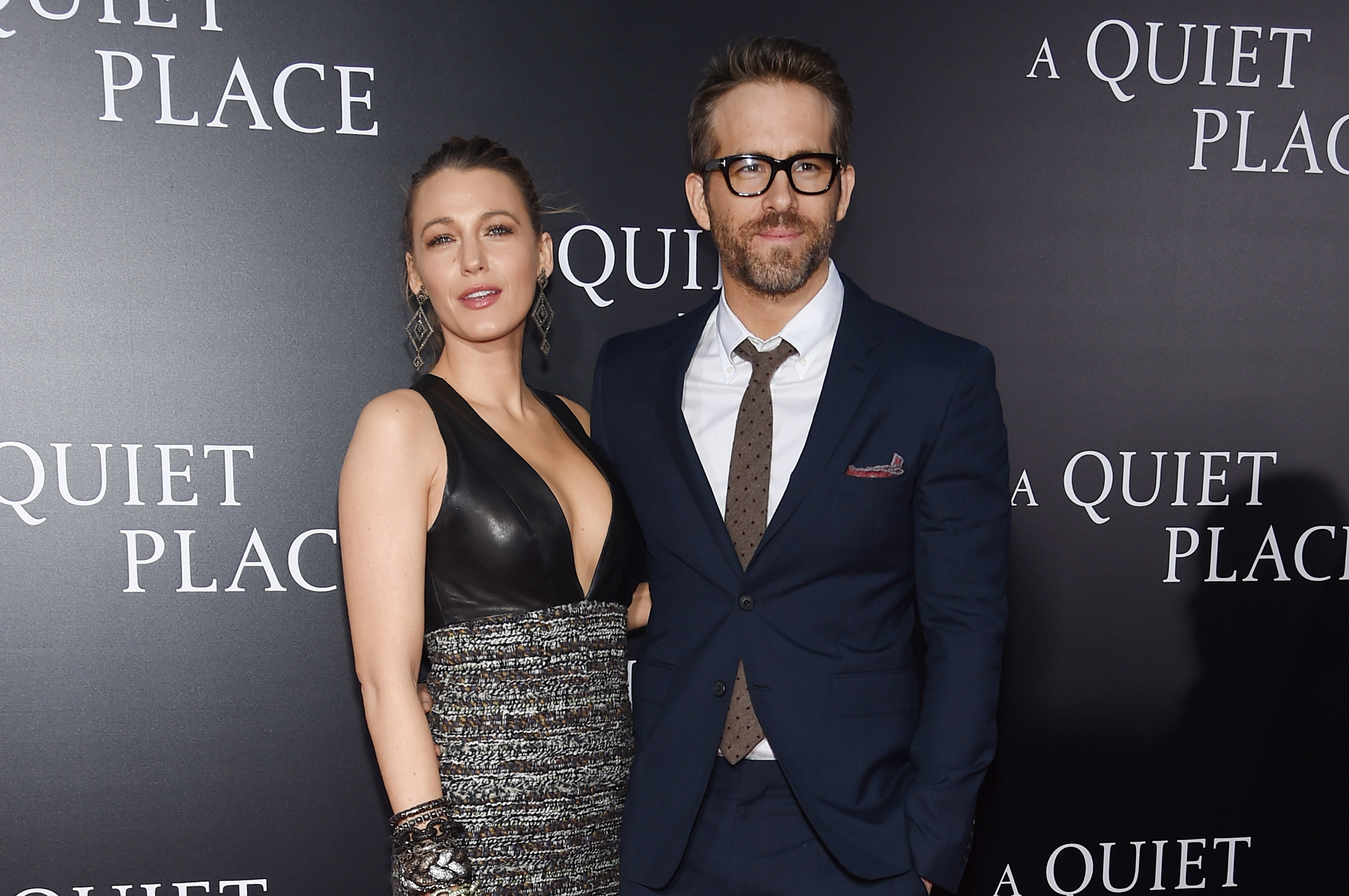 Blake Lively and Ryan Reynolds attend the premiere for 'A Quiet Place' at AMC Lincoln Square Theater on April 2, 2018 in New York City. (Photo by Jamie McCarthy/Getty Images)