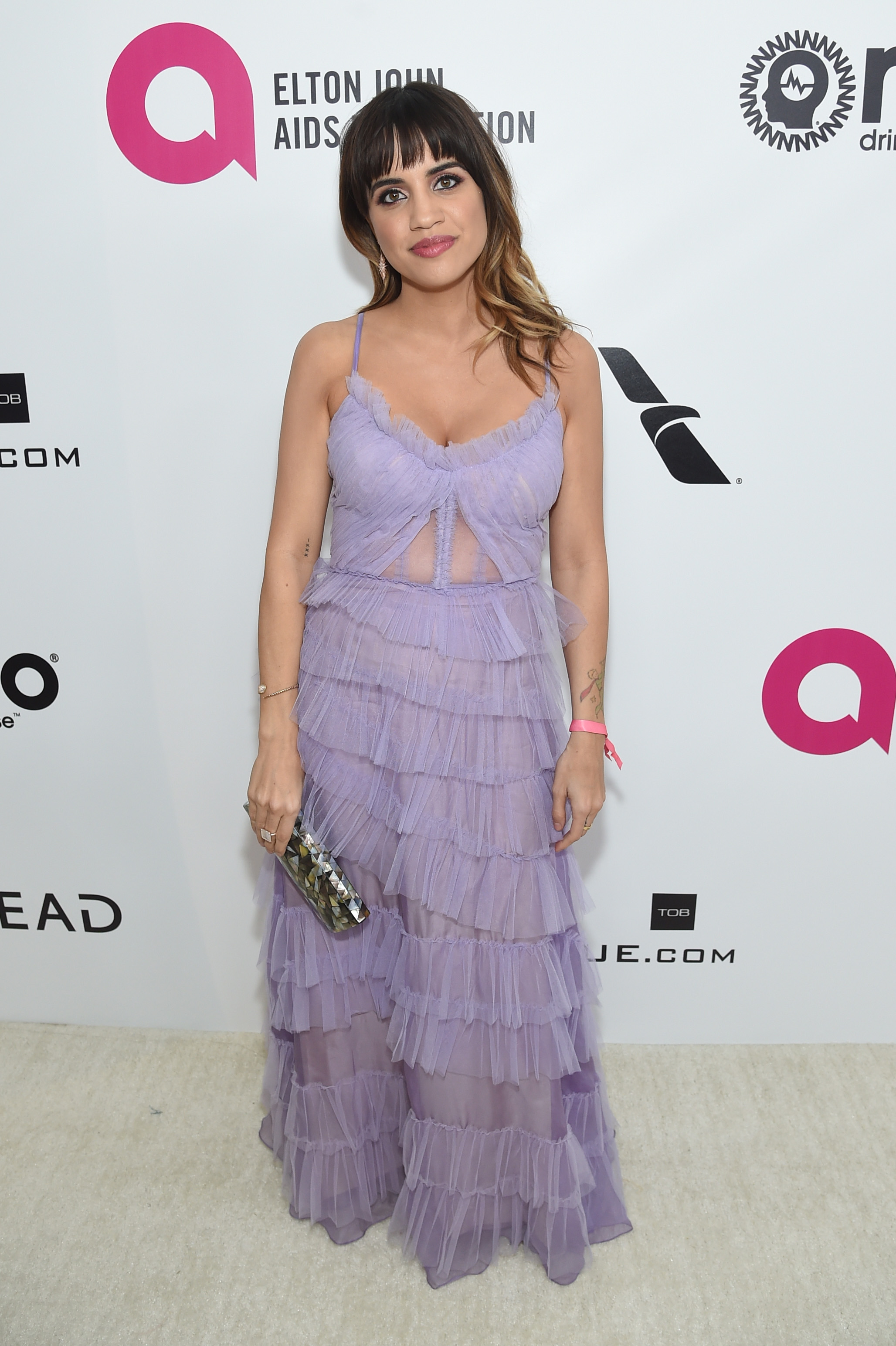 Natalie Morales attends the 27th annual Elton John AIDS Foundation Academy Awards Viewing Party sponsored by IMDb and Neuro Drinks celebrating EJAF and the 91st Academy Awards on February 24, 2019 in West Hollywood, California. (getty images)