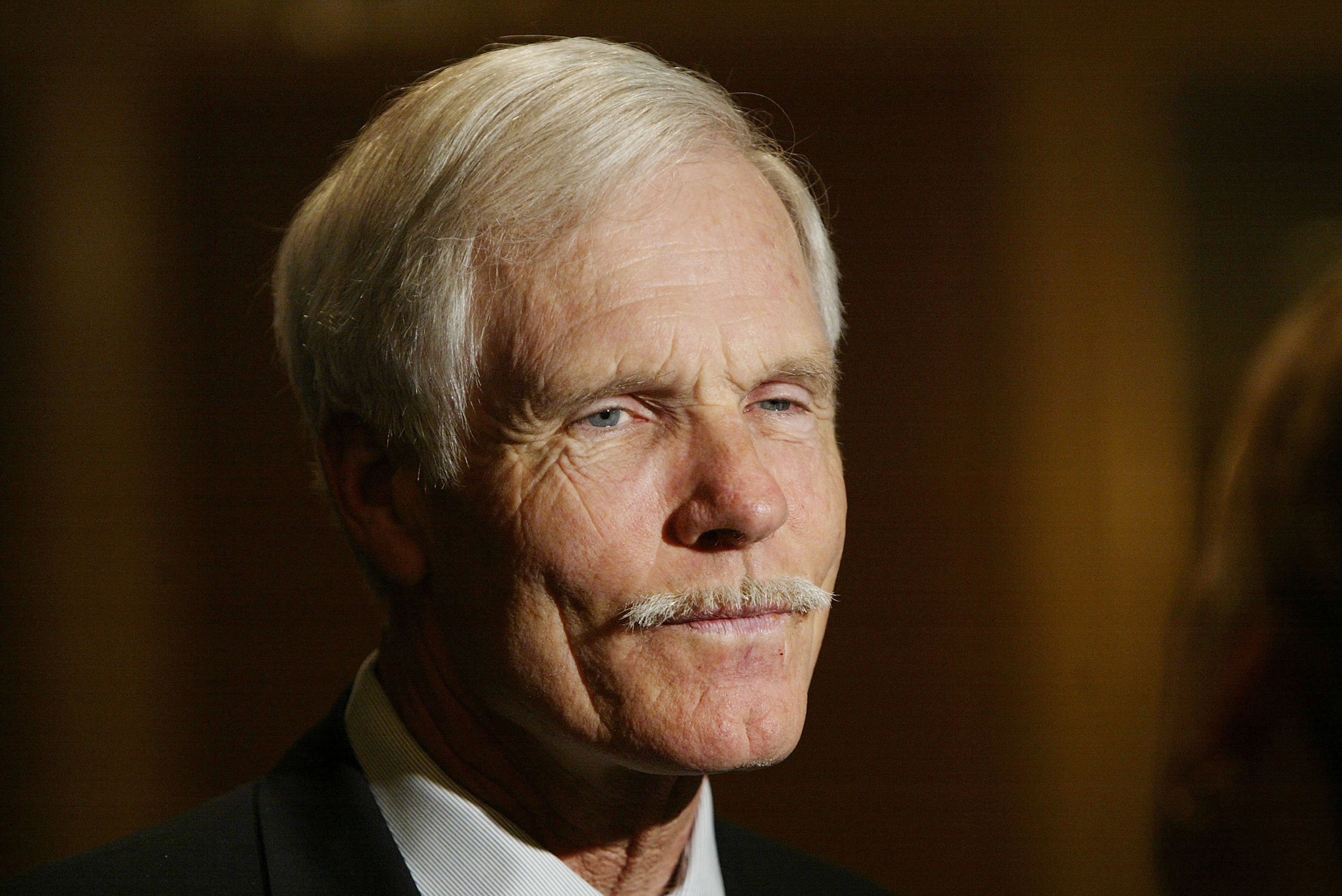 Media Mogul Ted Turner attends the 'Hollywood Radio and Television Society's Newsmakers Luncheon' at the Regent Beverly Wilshire April 8, 2004, in Los Angeles, California. (Getty Images)
