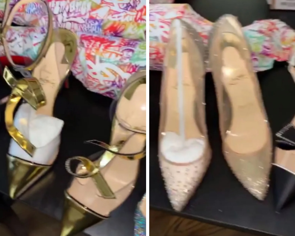 Apart from the handbags, the 'I Like It' singer also shared a video on Instagram Stories panning over eight new pairs of Christian Louboutin heels, the brand she famously called 'red bottoms' in her hit song 'Bodak Yellow'. (Source: Instagram)