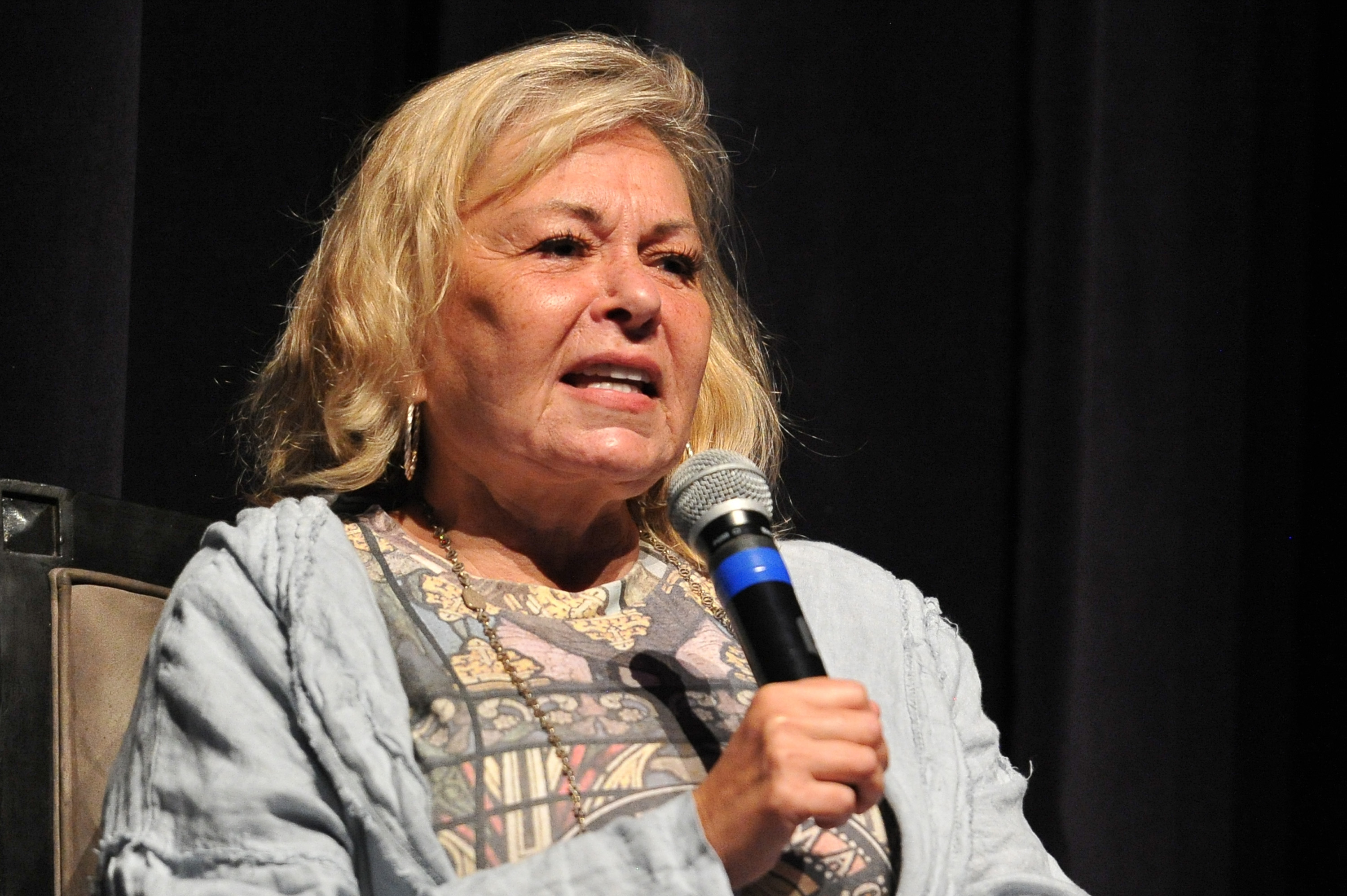 Roseanne Barr participates in 'Is America a Forgiving Nation?,'' a Yom Kippur eve talk on forgiveness hosted by the World Values Network and the Jewish Journal at Saban Theatre on September 17, 2018 in Beverly Hills, California. (Rachel Luna / Getty Images)