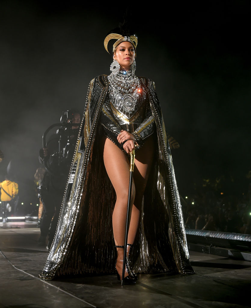 Beyonce Knowles performs onstage during 2018 Coachella Valley Music And Arts Festival Weekend 1 at the Empire Polo Field on April 14, 2018, in Indio, California (Source: Larry Busacca/Getty Images for Coachella )