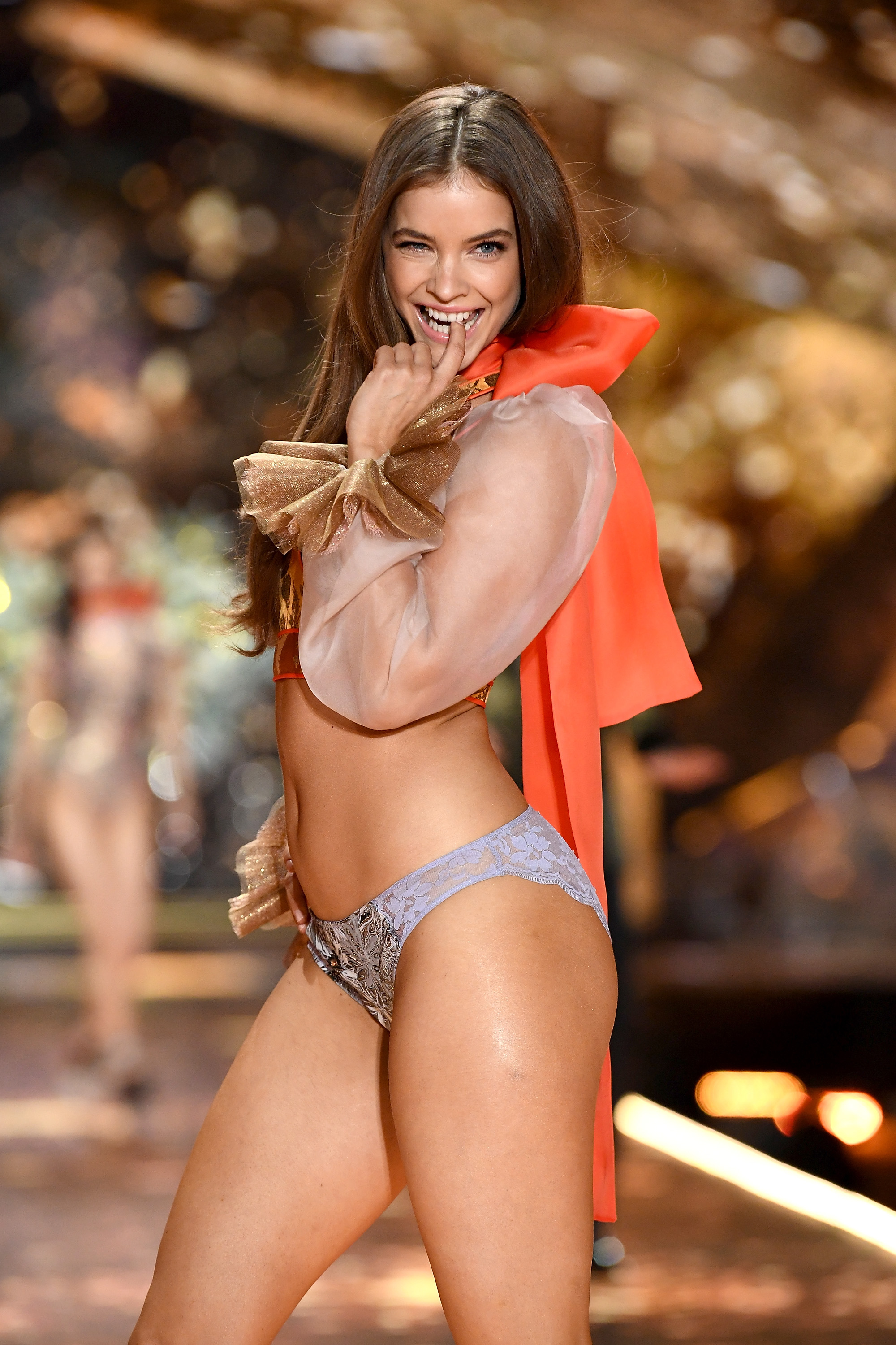 Barbara Palvin walks the runway during the 2018 Victoria's Secret Fashion Show at Pier 94 on November 8, 2018, in New York City. (Getty Images)