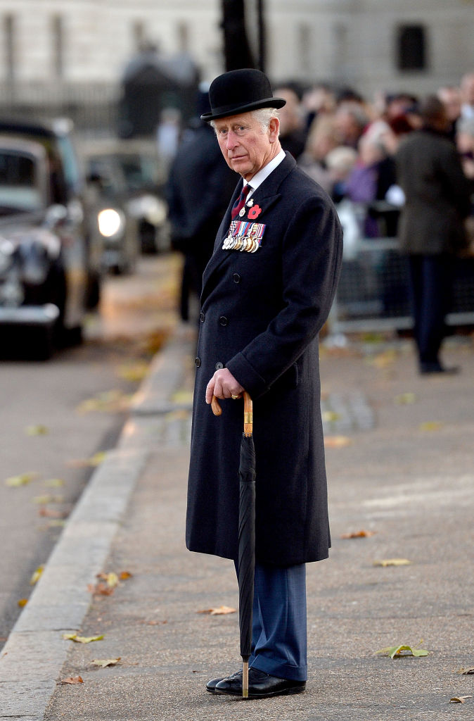 Prince Charles, The Prince of Wales is pictured after laying a wreath at the Guards' Memorial on November 12, 2017 in London, England. (Photo by Jeff Spicer - WPA Pool/Getty Images)