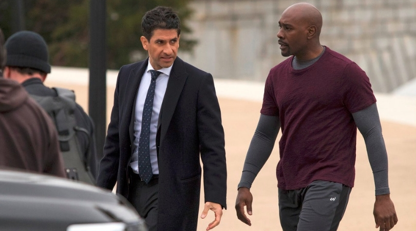Raza Jaffrey (Daniel Zain) and Morris Chestnut (Will Keaton) in 'The Enemy Within'.(Source: NBC)