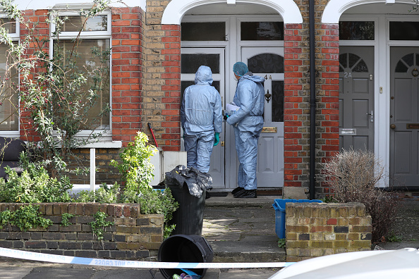 Police activity at a property on Darell Road in Kew, South-West London where the body of Laureline Garcia-Bertaux, 34, from Richmond, was found in a shallow grave in the garden. Police have launched a murder investigation. (Photo by Steve Parsons/PA Images via Getty Images)