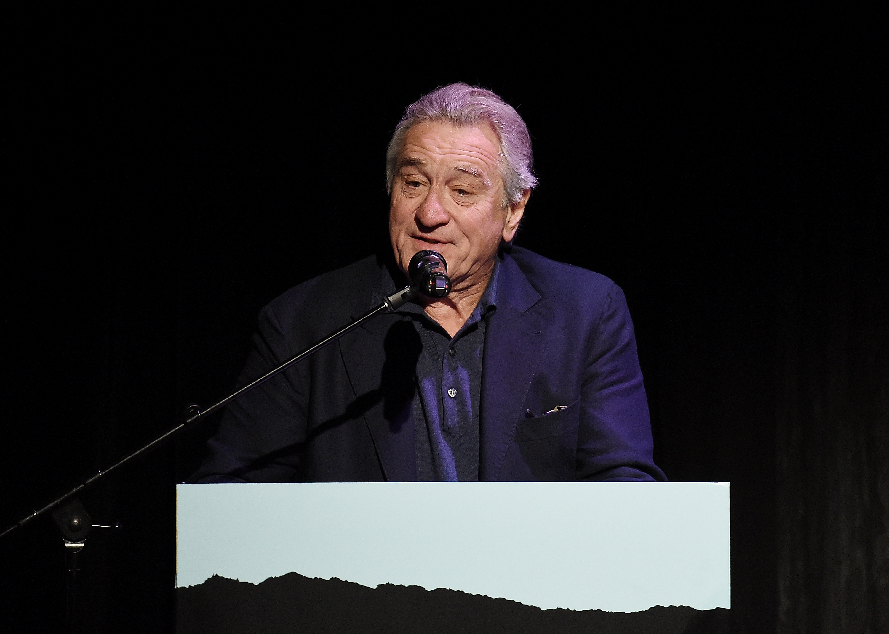Robert De Niro speaks at the introduction for the screening of 'The Fourth Estate' - 2018 Tribeca Film Festival at BMCC Tribeca PAC on April 28, 2018, in New York City. (Getty Images)