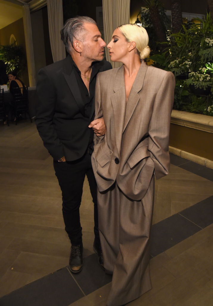 Christian Carino (L) and Lady Gaga attend ELLE's 25th Annual Women In Hollywood Celebration presented by L'Oreal Paris, Hearts On Fire and CALVIN KLEIN at Four Seasons Hotel Los Angeles at Beverly Hills on October 15, 2018 in Los Angeles, California. (Photo by Michael Kovac/Getty Images for ELLE Magazine)