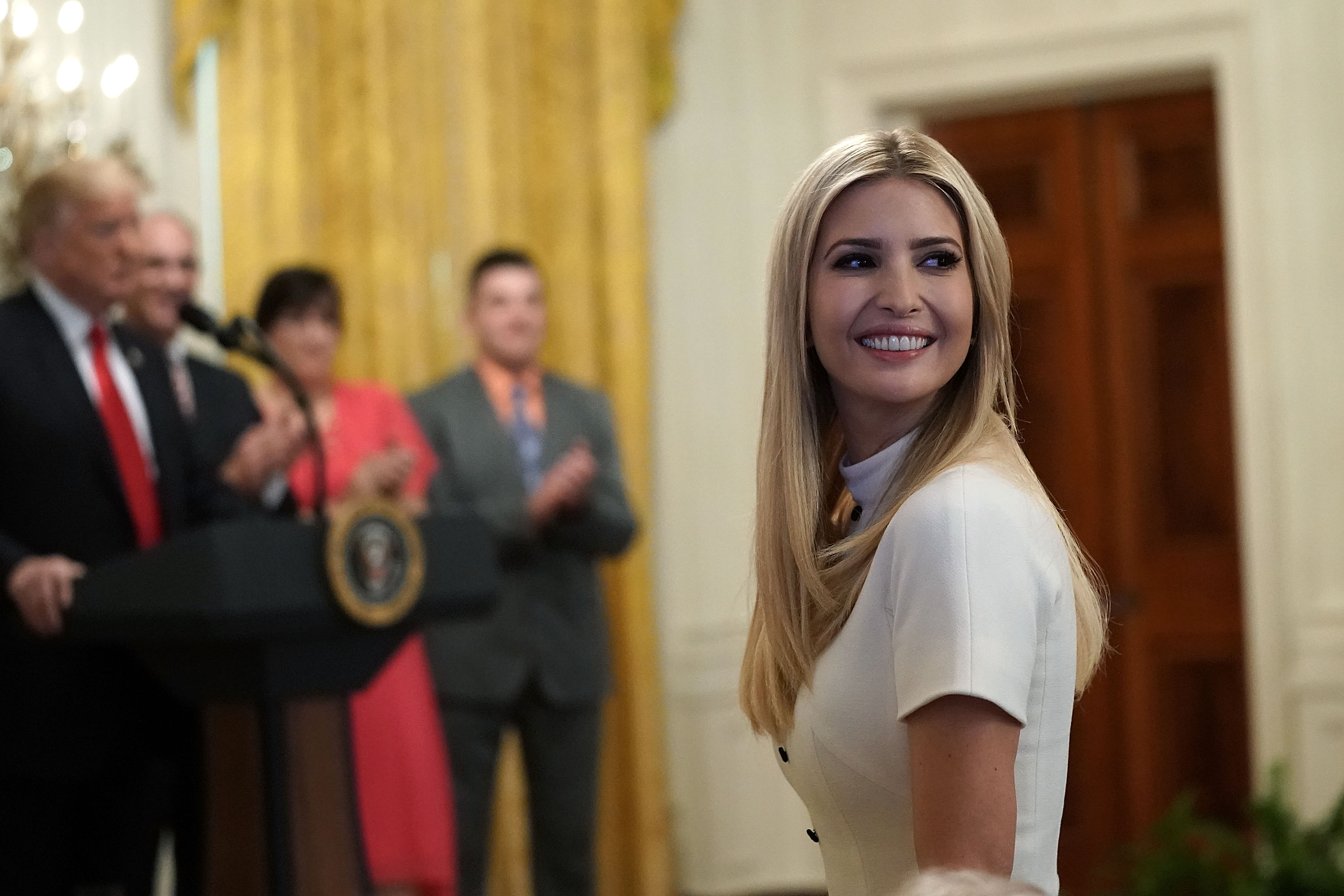 Ivanka Trump, senior adviser and daughter of U.S. President Donald Trump, attends an event at the East Room of the White House June 29, 2018 in Washington, DC.