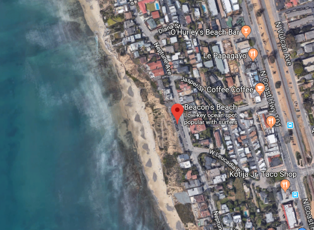 Beacon Beach has been notorious for shark attacks. (Google Maps)