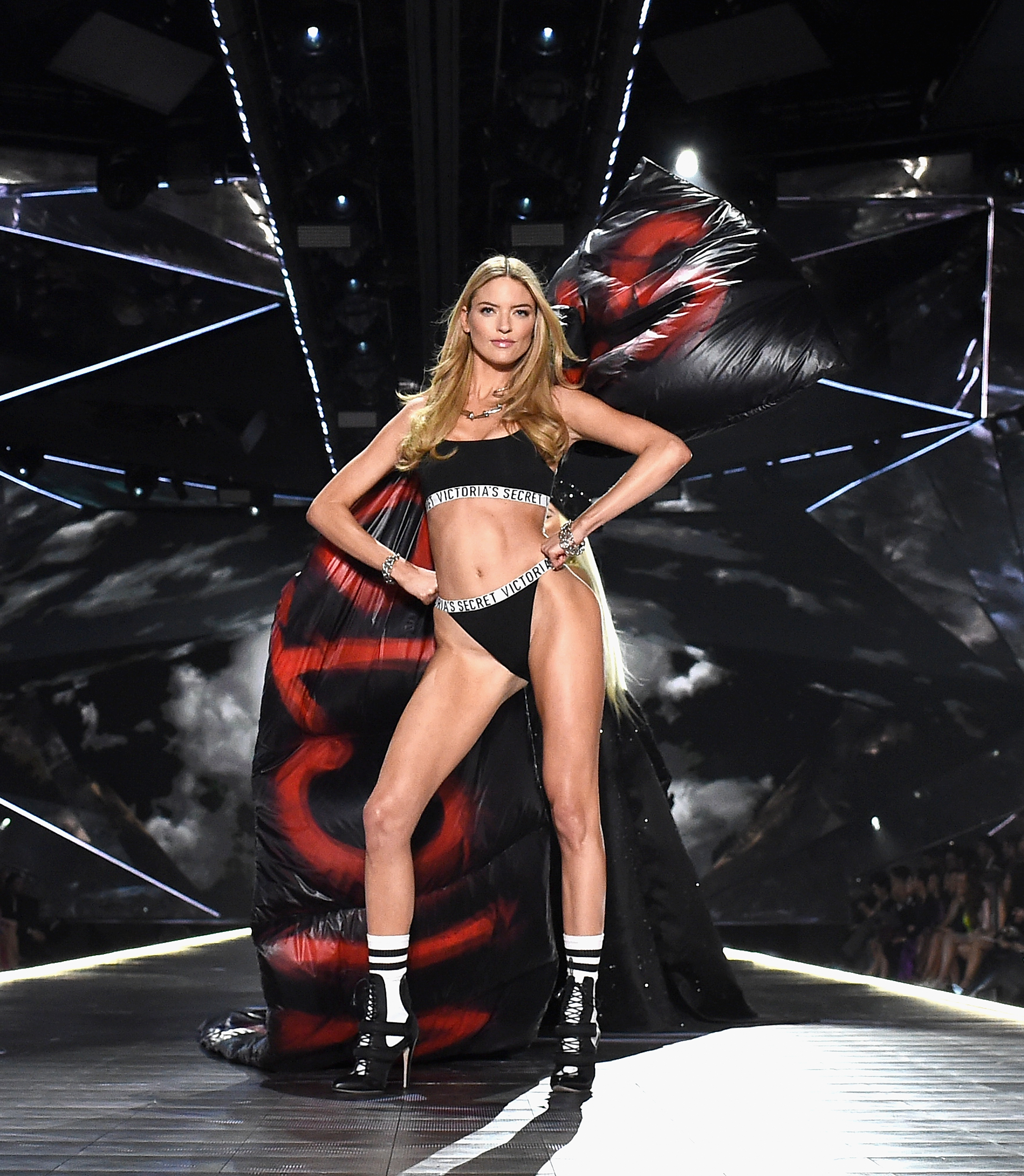 7938ccc700e64 Martha Hunt walks the runway during the 2018 Victoria s Secret Fashion Show  at Pier 94 on
