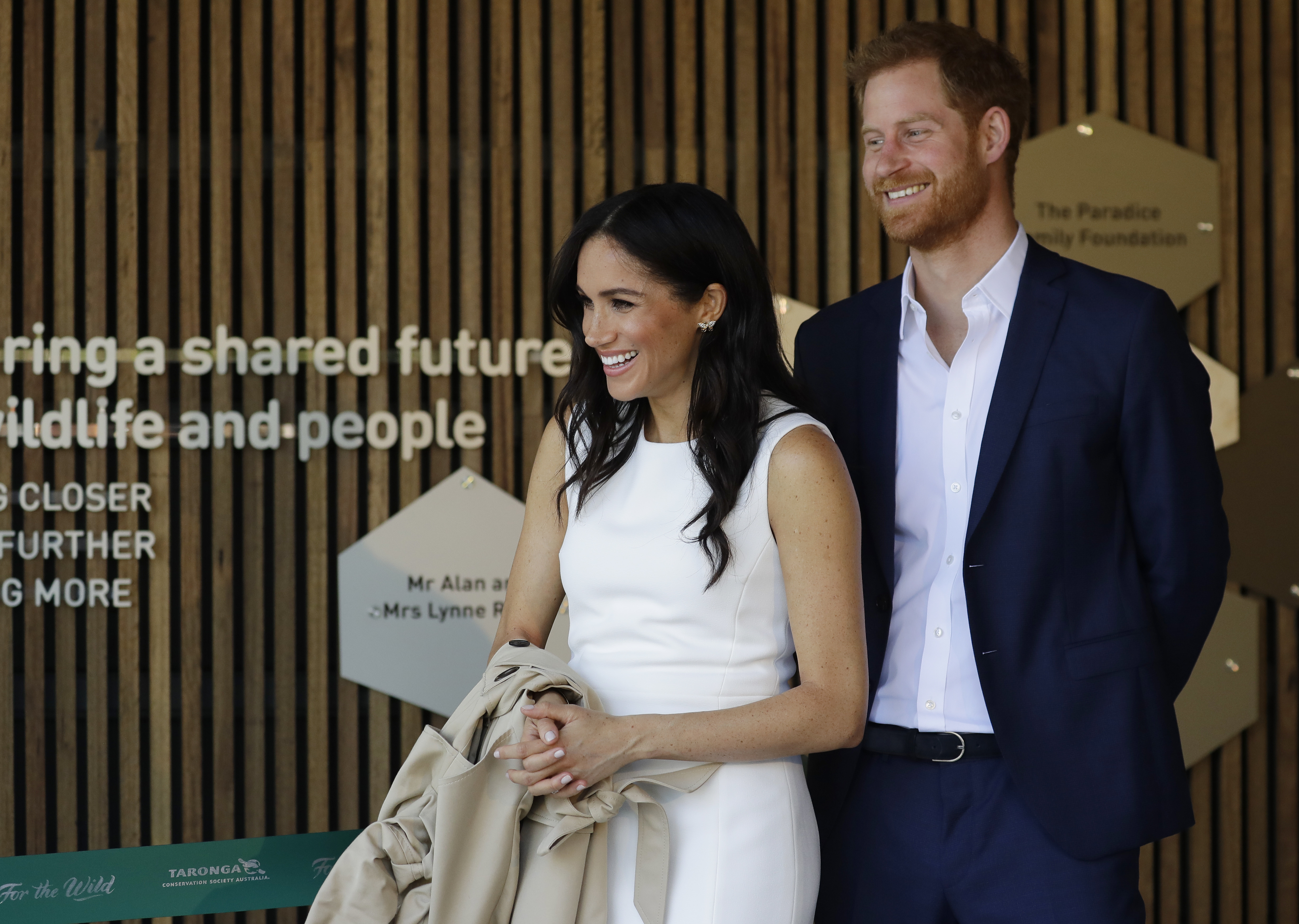 Prince Harry, Duke of Sussex and Meghan, Duchess of Sussex attend a ceremony at Taronga Zoo on October 16, 2018 in Sydney, Australia. The Duke and Duchess of Sussex are on their official 16-day Autumn tour visiting cities in Australia, Fiji, Tonga and New Zealand.