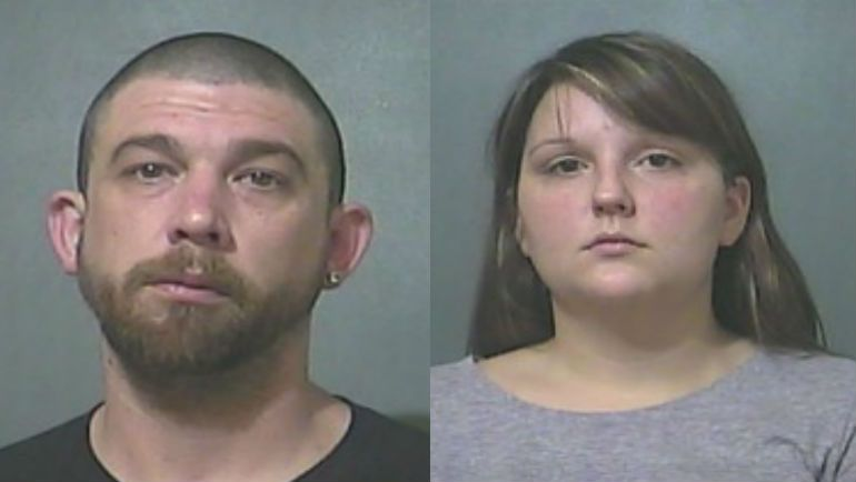 Scott Edwards and Holly Cota (Source: Vigo County Jail via WTHI-TV)