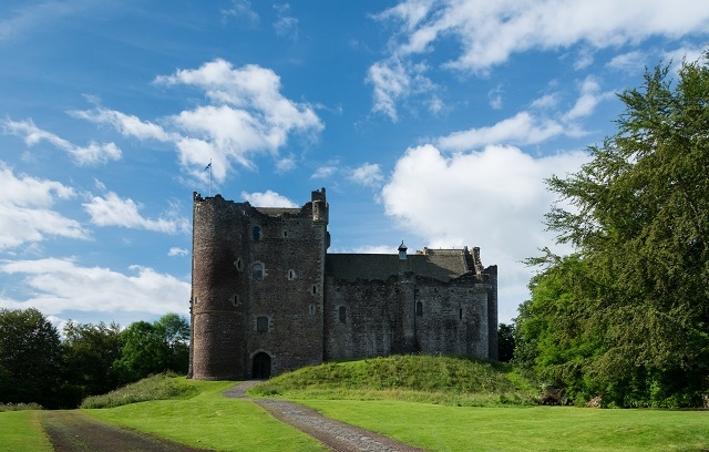 The 14th century courtyard castle in Doune (VisitScotland)