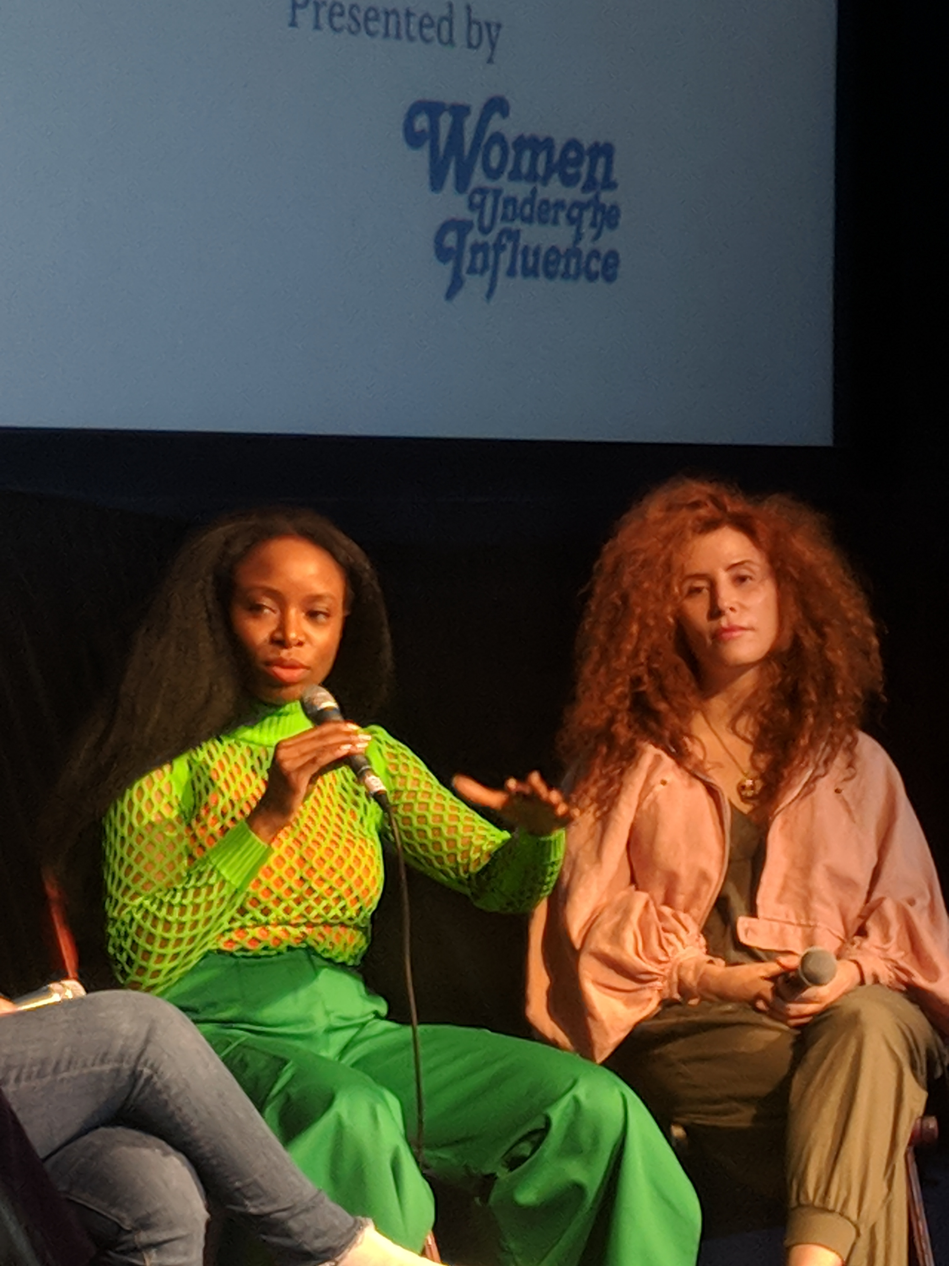 Jenn Nkiru and Alma Har'el at the music video production panel for the 2018 Female Filmmakers Festival.