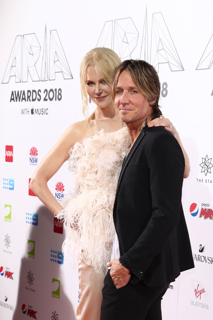 Nicole Kidman and Keith Urban arrive for the 32nd Annual ARIA Awards 2018 at The Star on November 28, 2018, in Sydney, Australia. (Source: Mark Metcalfe/Getty Images)