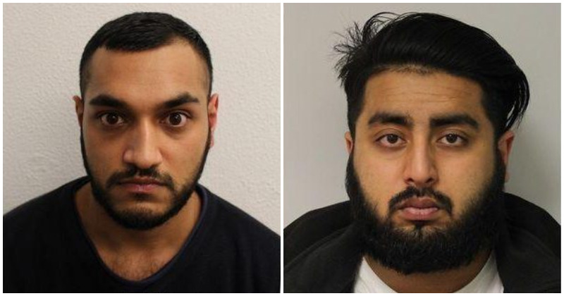 Miah (left) was jailed for 13 years and Ahmed (right) was jailed for 11 (Source: Metropolitan Police)