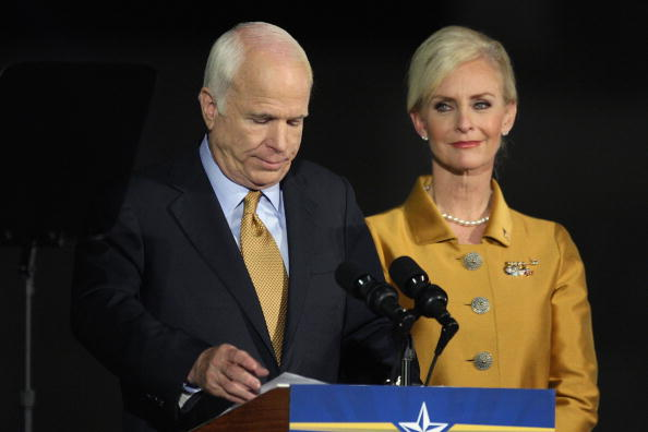 John McCain and Cindy McCain (Source: Getty Images)