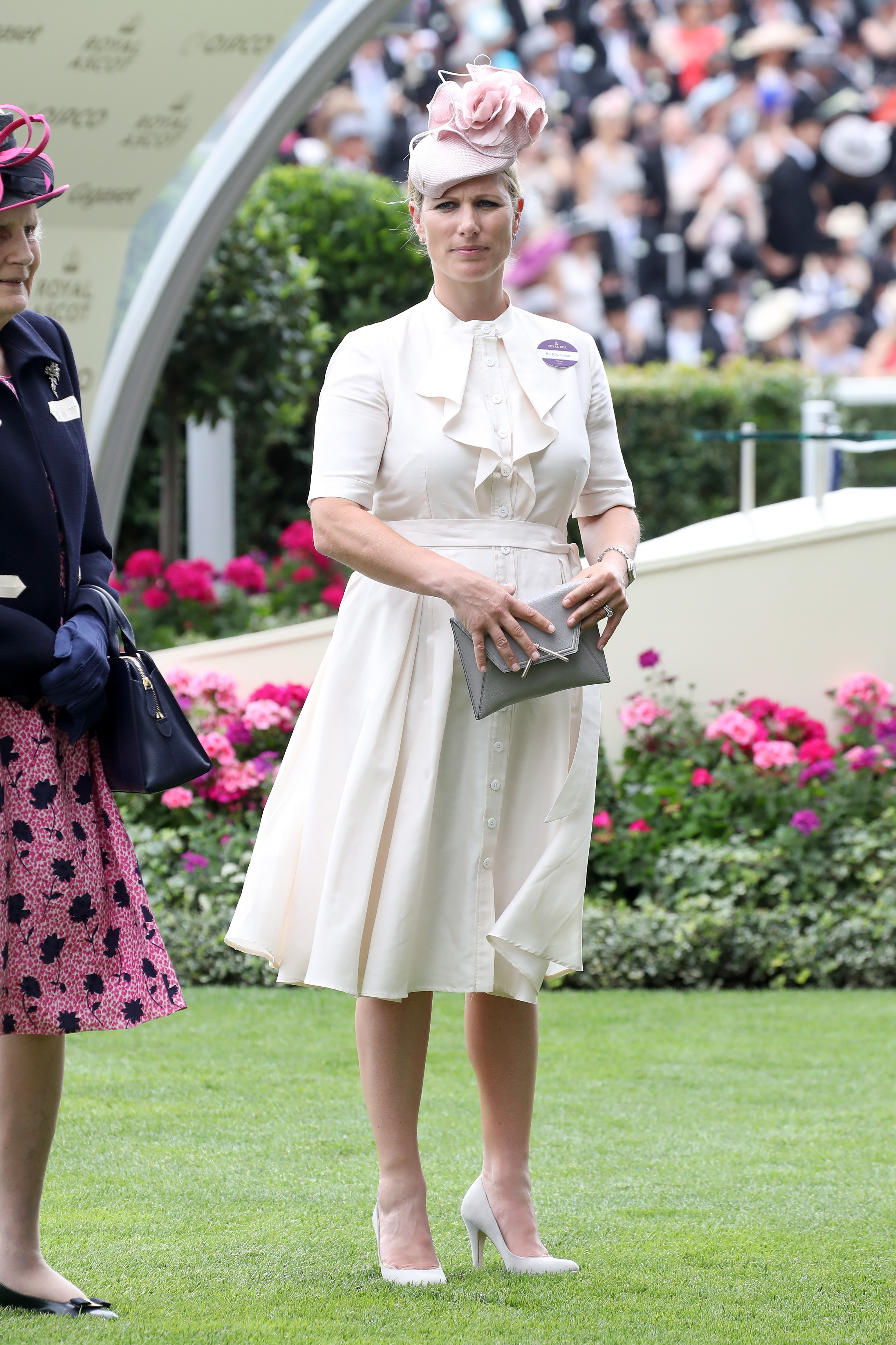 Zara Philllips is seen in the Parade Ring as she attends Royal Ascot 2017 at Ascot Racecourse on June 22, 2017 in Ascot, England.
