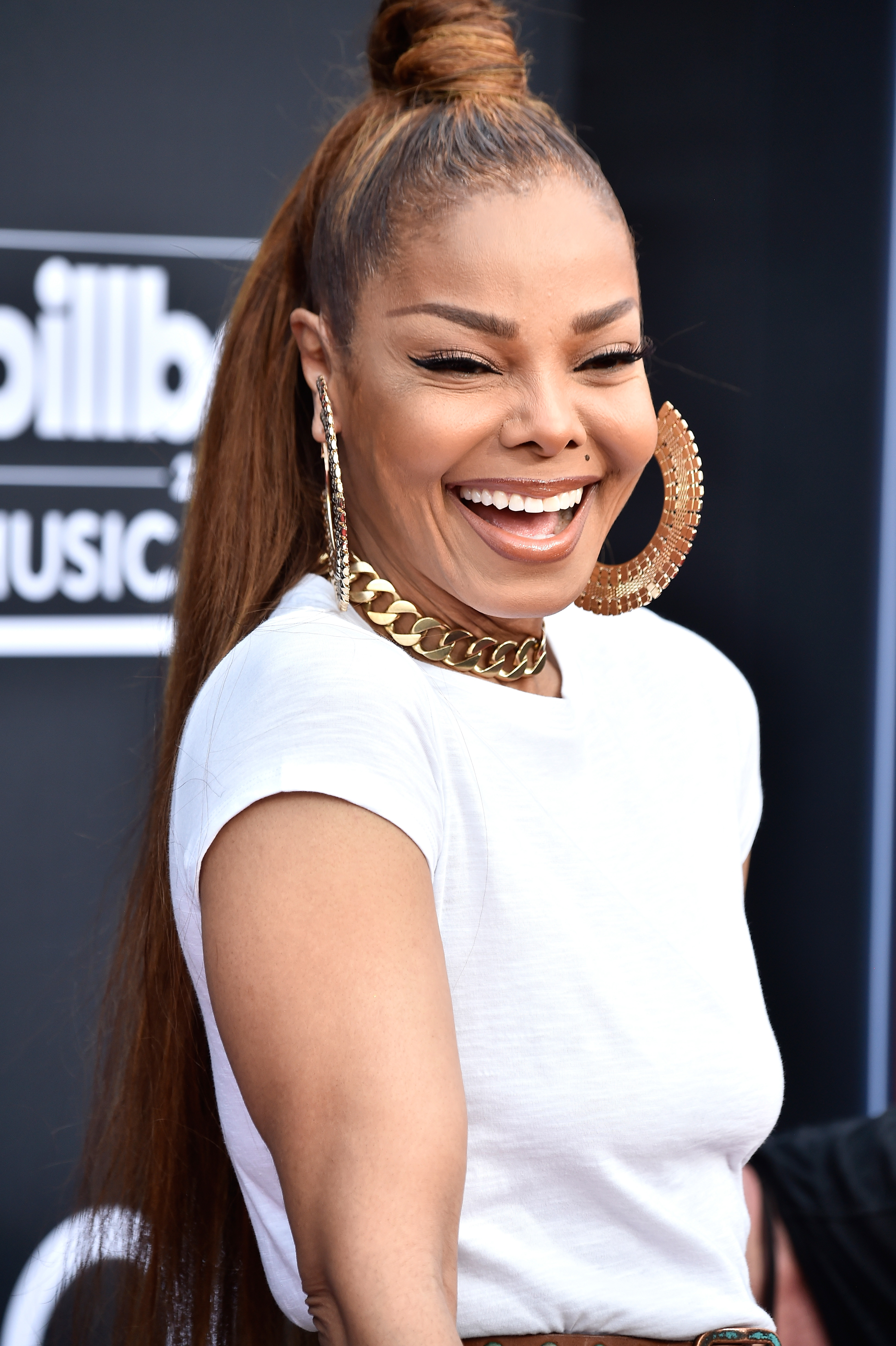 Honoree Janet Jackson attends the 2018 Billboard Music Awards at MGM Grand Garden Arena on May 20, 2018 in Las Vegas, Nevada.
