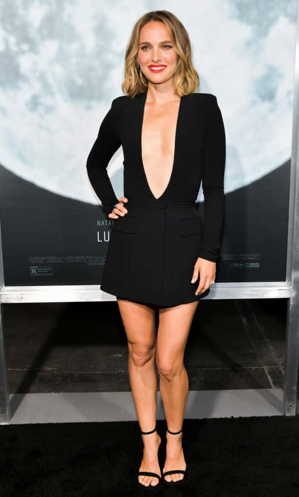 Natalie Portman attends the Premiere of FOXs Lucy In The