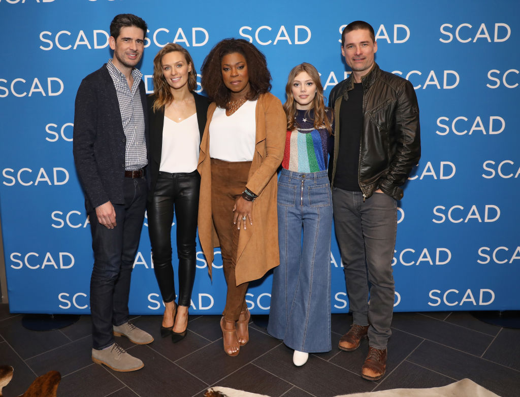 (L-R) Mike Daniels, Michaela McManus, Lorraine Toussaint, Grace Van Dien and Warren Christie attend the 'The Village' screening during SCAD aTVfest 2019 at SCADshow on February 9, 2019 in Atlanta, Georgia. (Photo by Cindy Ord/Getty Images for SCAD aTVfest 2019 )