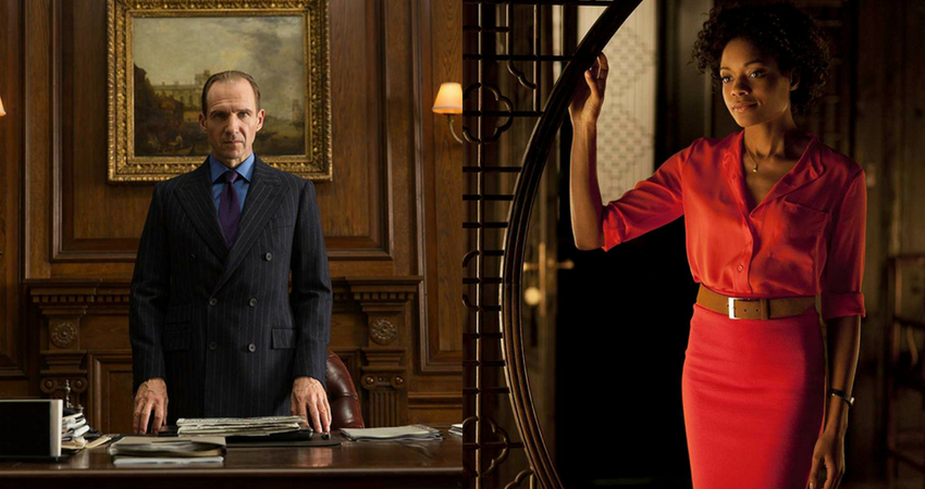 Ralph Fiennes and Naomi Harris will probably make it back to 'James 25'. (IMDb)