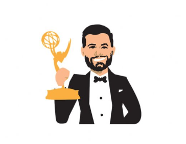 Jimmy Kimmel got his own emoji at the 2016 Emmy Awards. (Twitter)
