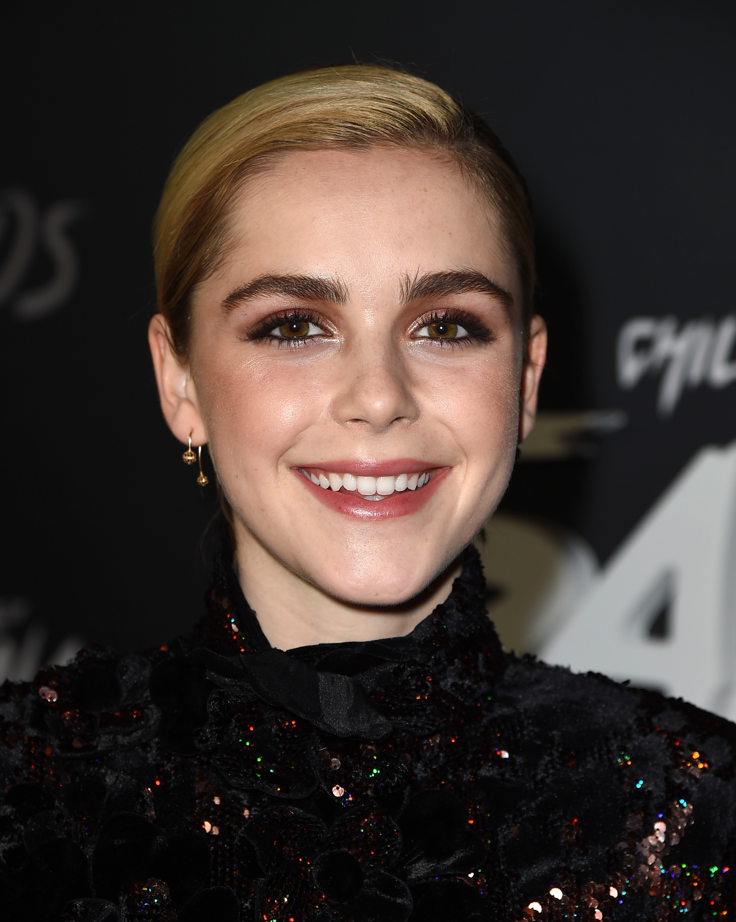 Kiernan Shipka arrives at the premiere of Netflix's 'Chilling Adventures Of Sabrina' at the Hollywood Athletic Club on October 19, 2018 in Los Angeles, California (Getty)