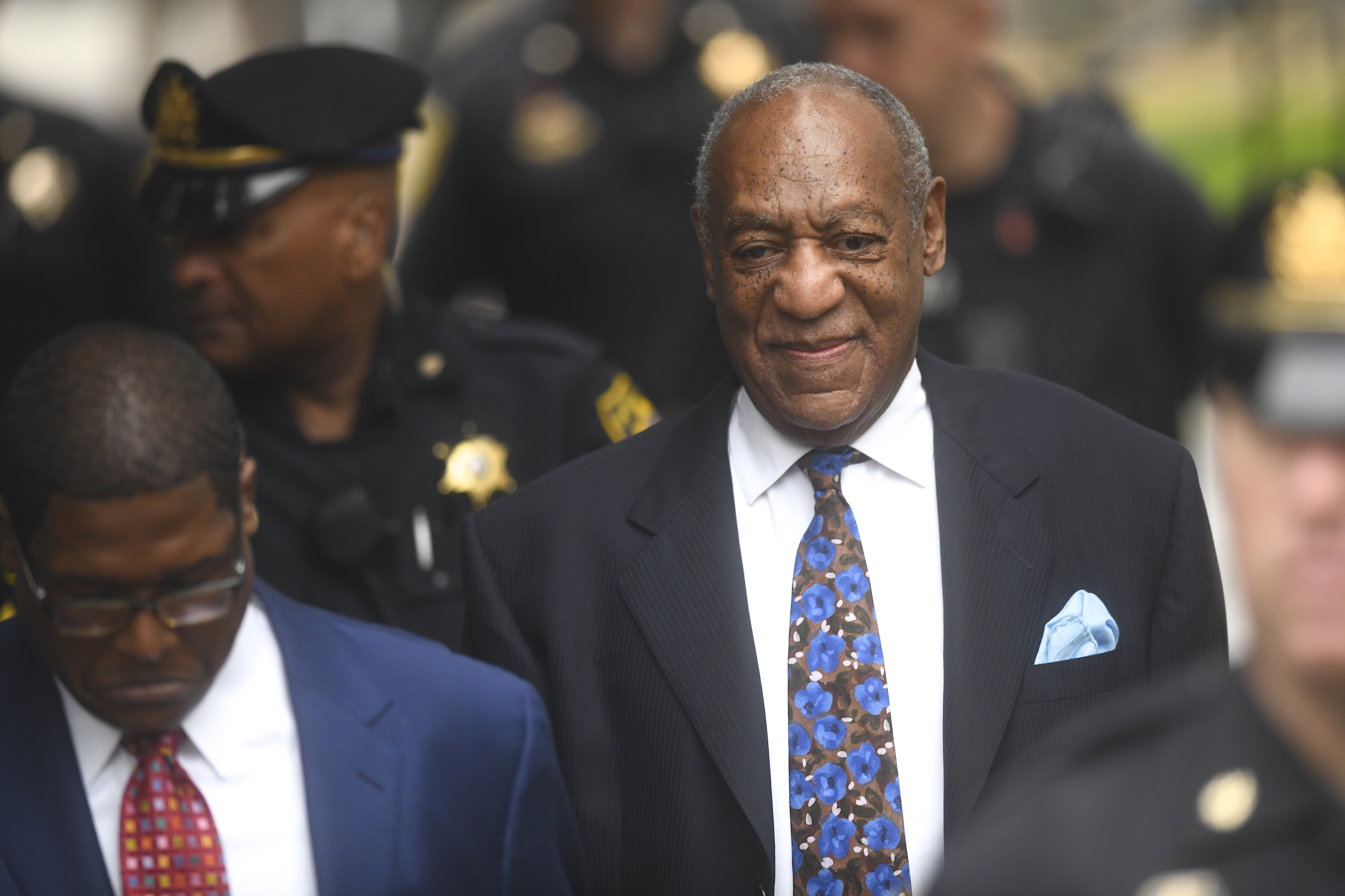 Bill Cosby arrives at the Montgomery County Courthouse on the first day of sentencing in his sexual assault trial on September 24, 2018 in Norristown, Pennsylvania. In April, Cosby was found guilty on three counts of aggravated indecent assault for drugging and sexually assaulting Andrea Constand at his suburban Philadelphia home in 2004. 60 women have accused the 80 year old entertainer of sexual assault.