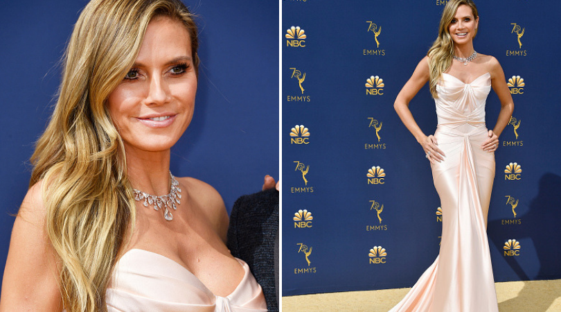 Heidi Klum attends the 70th Emmy Awards at Microsoft Theater on September 17, 2018 in Los Angeles, California.