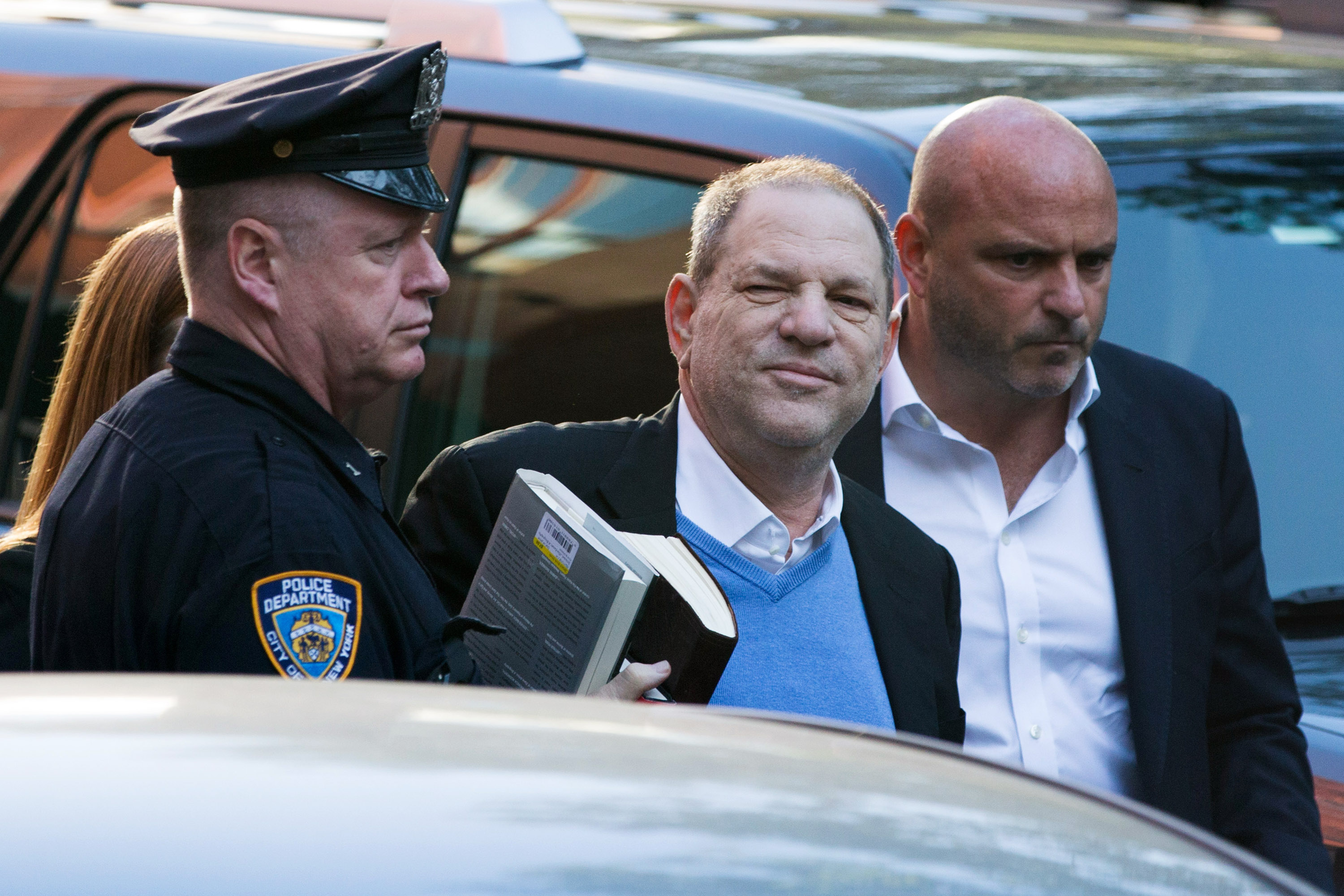 Harvey Weinstein turns himself in to the New York Police Department's First Precinct after be served with criminal charges by the Manhattan District Attorney's office on May 25, 2018 in New York City. The former movie producer faces charges in connection with accusations made by aspiring actress Lucia Evans who has said that Weinstein forced her to perform oral sex on him in his Manhattan office in 2004. Weinstein (66) has been accused by dozens of other women of forcing them into sexual acts using both pressure and threats. The revelations of the his behavior helped to spawn the global #MeToo movement.