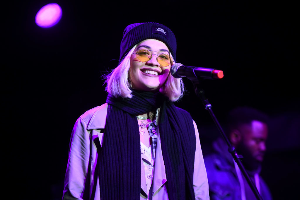 Singer Rita Ora performs onstage during the One Love Malibu Festival at King Gillette Ranch on December 02, 2018 in Malibu, California. (Photo by Scott Dudelson/Getty Images for ABA)