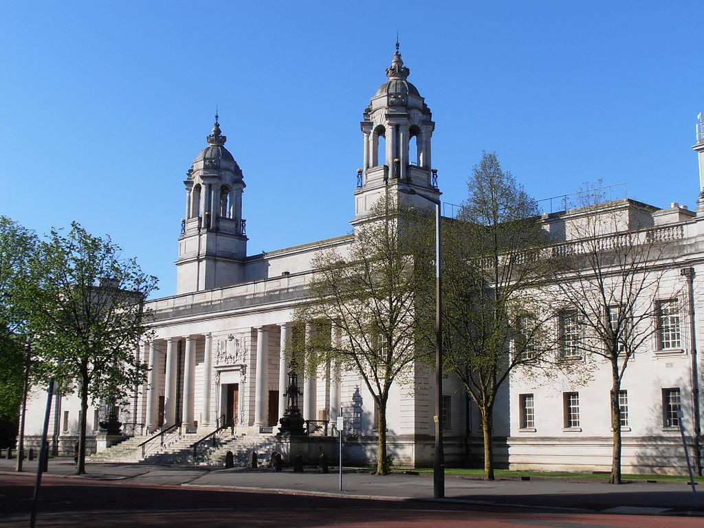 The pair's trial is taking place at the Cardiff Crown Court (Source: Wikipedia)