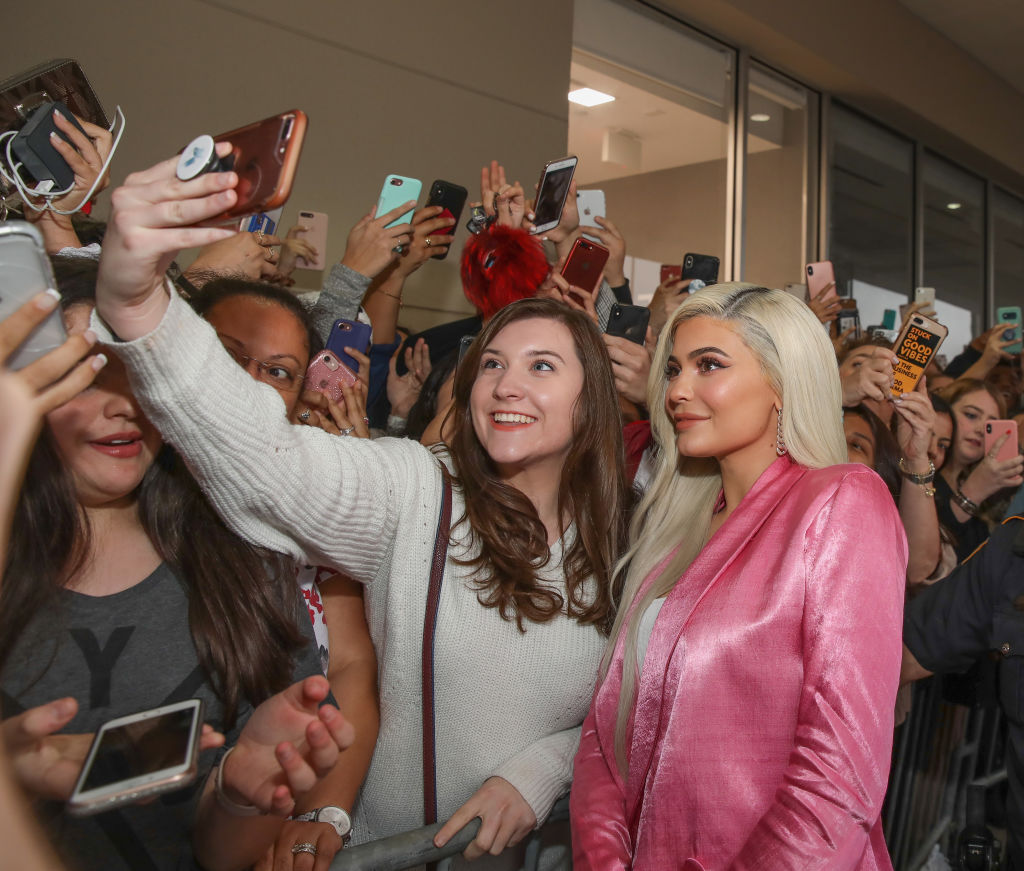 Kylie Jenner visits Houston Ulta Beauty to promote the exclusive launch of Kylie Cosmetics with the beauty retailer, starting this month on November 18, 2018 in Houston, Texas. (Photo by Rick Kern/Getty Images for Ulta Beauty)