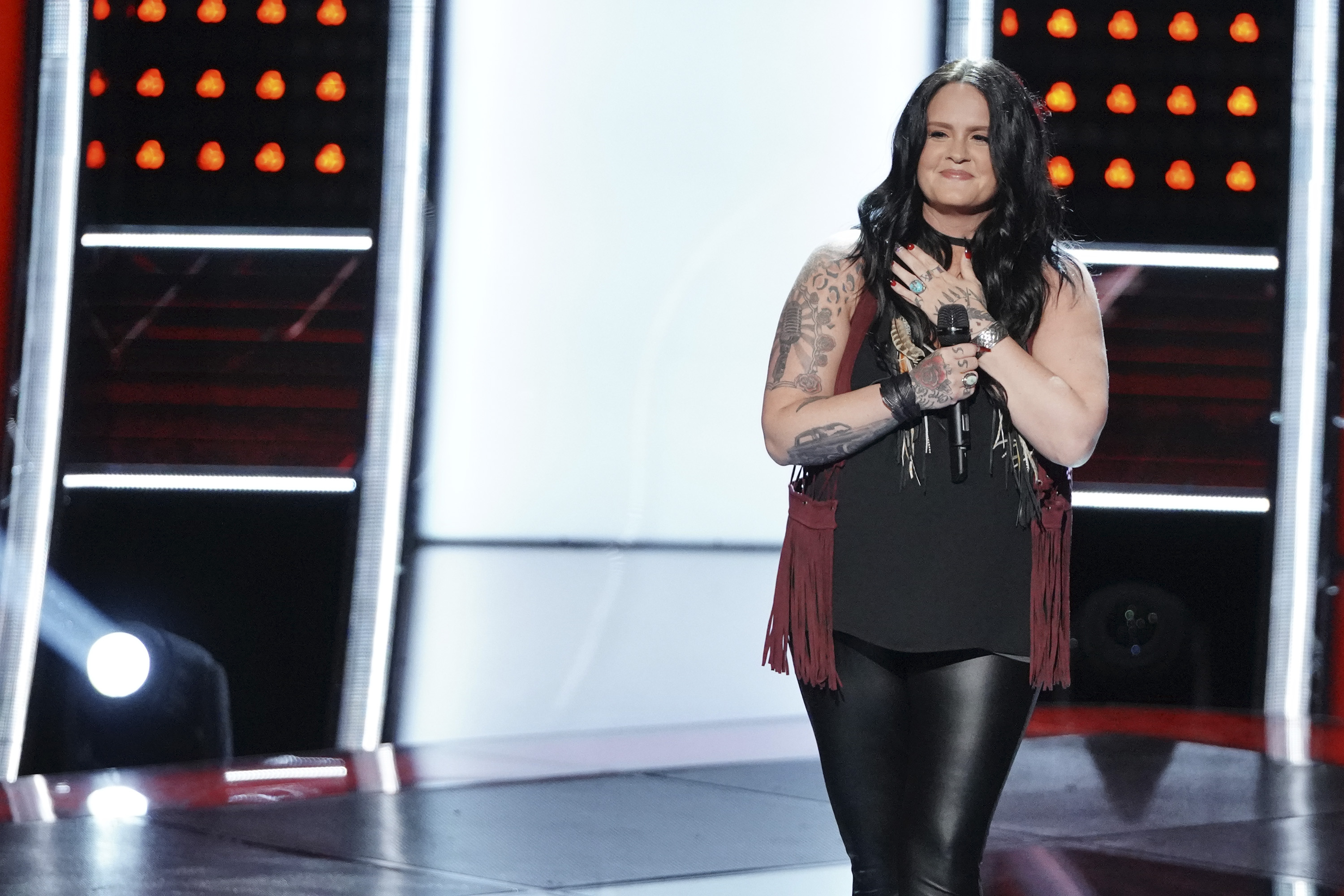 "THE VOICE -- ""Blind Auditions"" Episode 1505 -- Pictured: Natalie Brady -- (Photo by: Tyler Golden/NBC)"