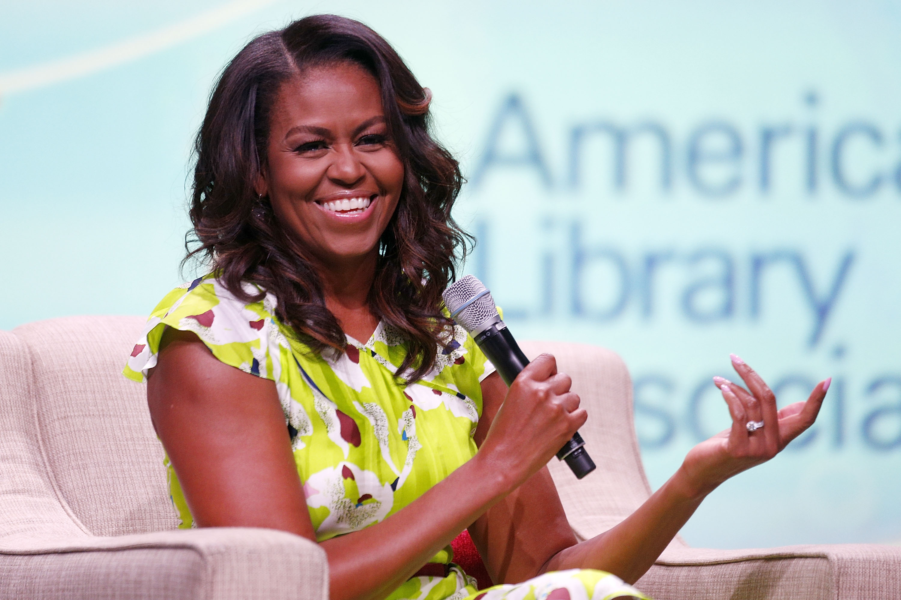 "Michelle said she'd ""never forgive"" Trump for advocating the birther movement (Source: Jonathan Bachman/Getty Images)"