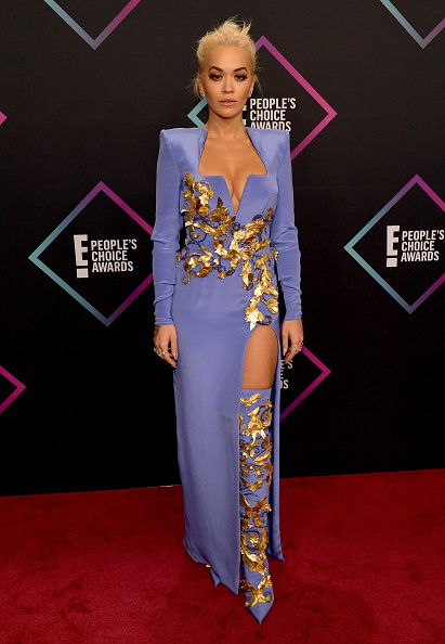 Rita Ora looked like the warrior goddess that she is in this blue number. Matchy boots? Yes please! (Photo by Matt Winkelmeyer/Getty Images)