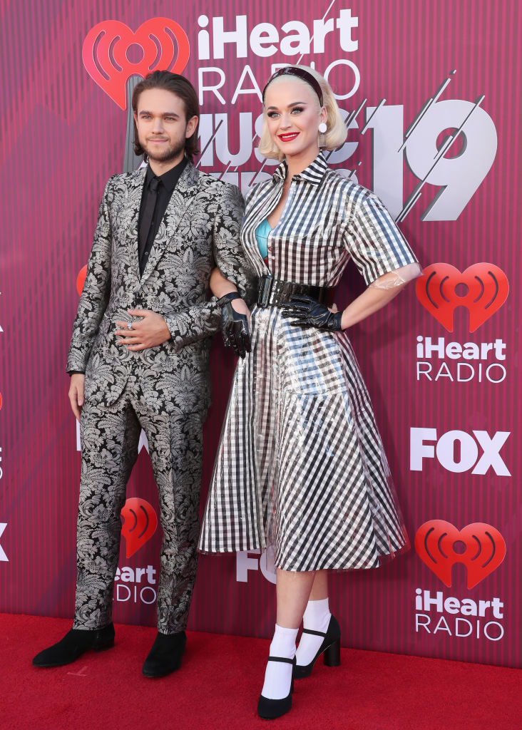 Zedd and Katy Perry attend the 2019 iHeartRadio Music Awards which broadcasted live on FOX at Microsoft Theater on March 14, 2019 in Los Angeles, California. (Photo by Rich Polk/Getty Images for iHeartMedia)