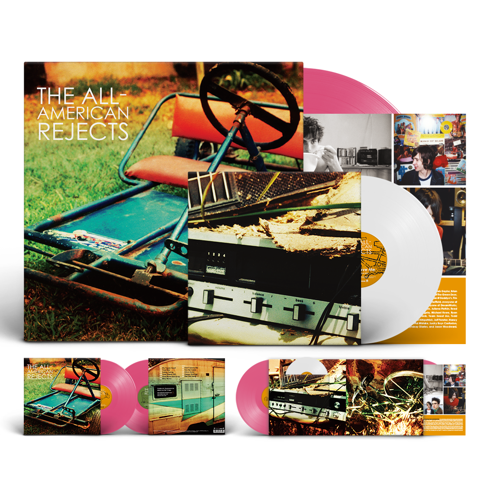 Packaging for The All American Rejects' self-titled debut LP vinyl release.