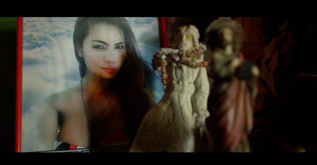 A picture of Jennifer Laude can be seen in her house in a still from Call Her Ganda.