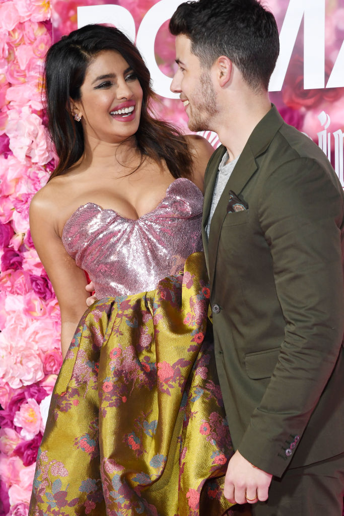 Priyanka Chopra and Nick Jonas attend the premiere of 'Isn't It Romantic' at The Theatre at Ace Hotel on February 11, 2019 in Los Angeles, California. (Photo by Amy Sussman/Getty Images)