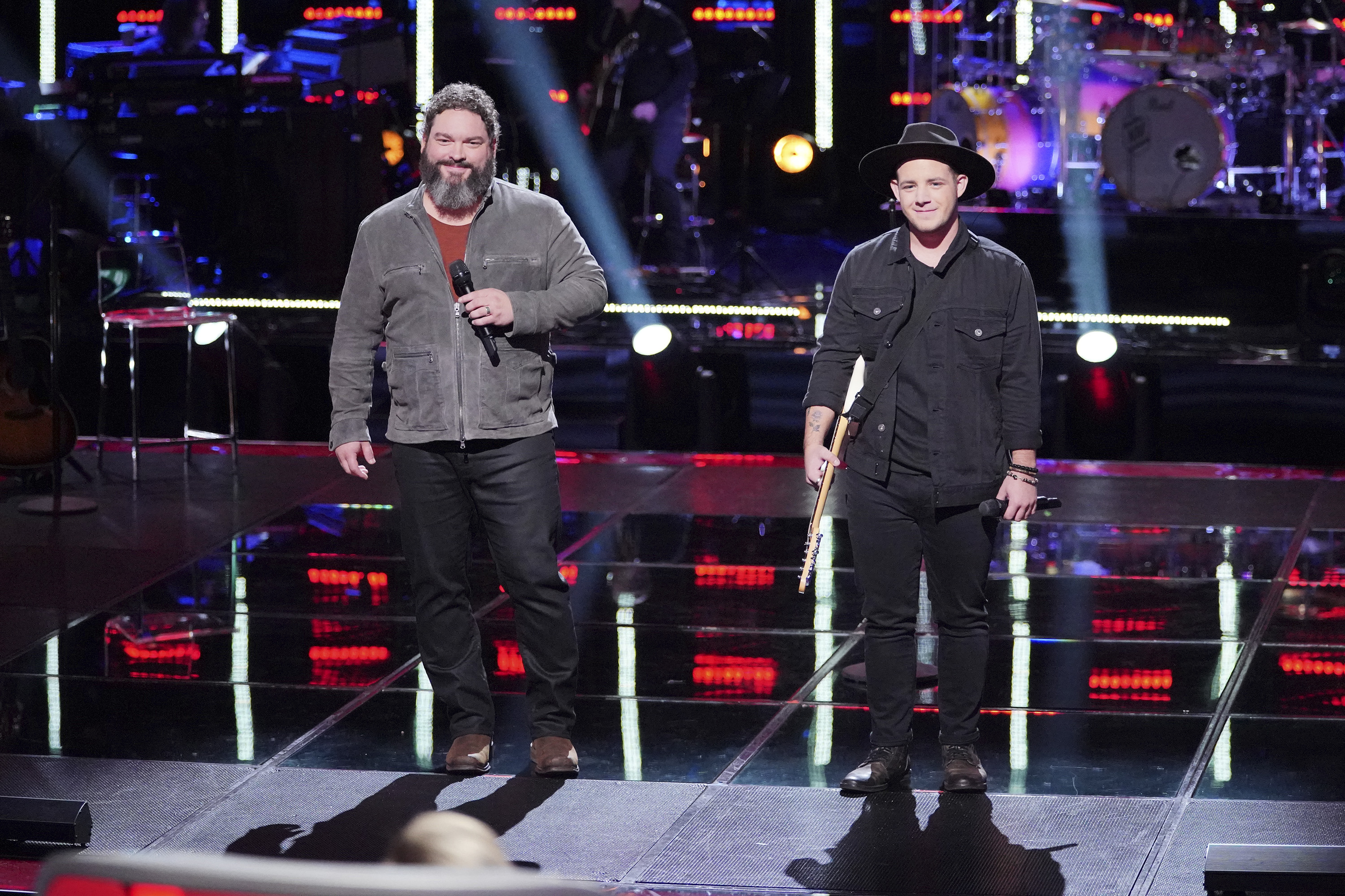 "THE VOICE -- ""Knockout Rounds"" Episode 1512 -- Pictured: (l-r) Dave Fenley, Kameron Marlowe -- (Photo by: Tyler Golden/NBC)"