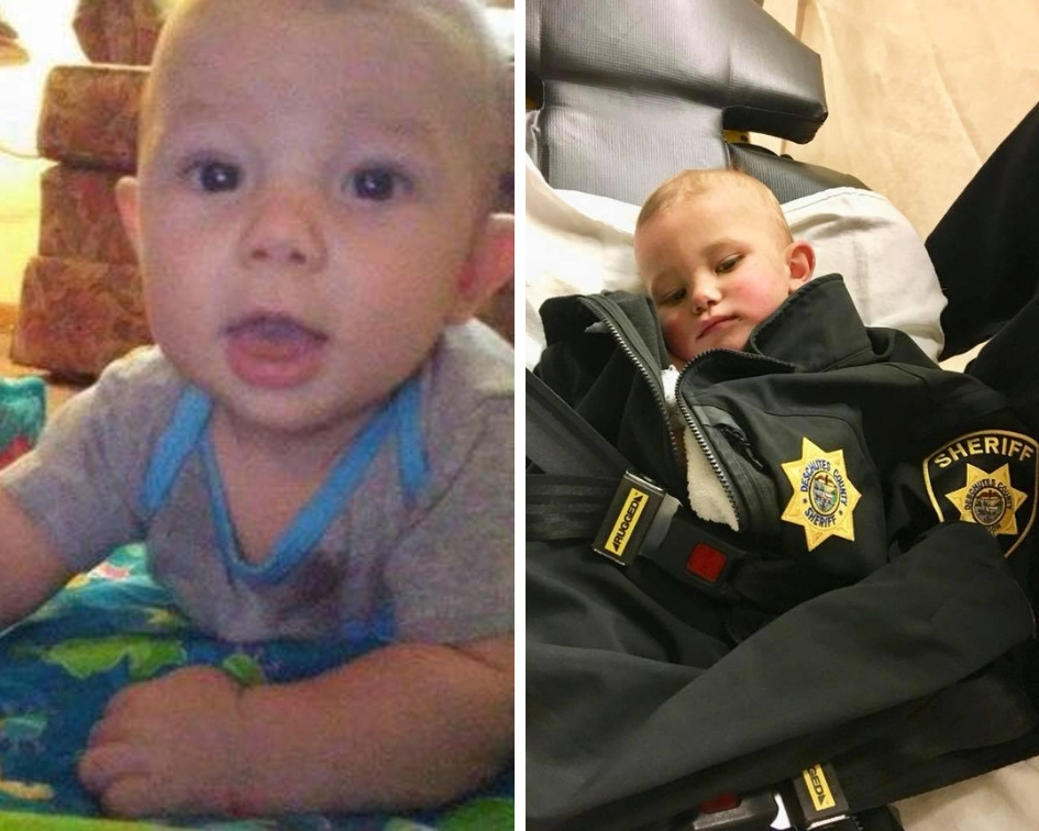 A one-year-old kid who was found abandoned by his father last spring had serious injuries and meth in his system, it has since been revealed. (Deschutes County Sheriff's Office Oregon)