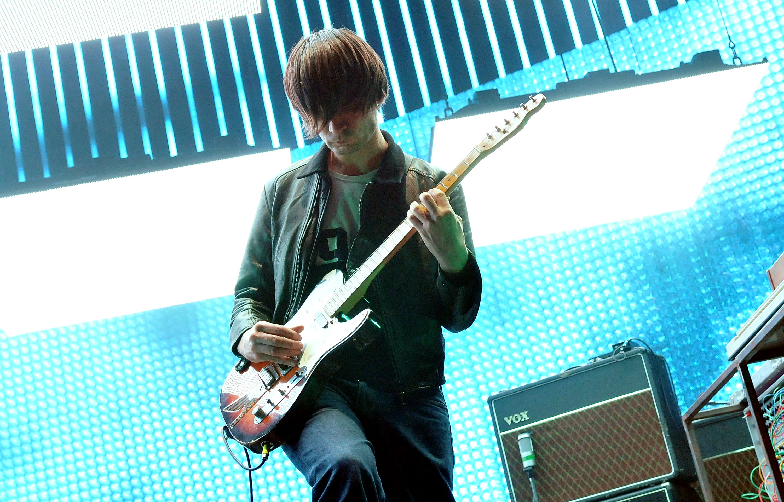 Jonny Greenwood of Radiohead performs live on stage at 02 Arena on October 8, 2012, in London, England. (Getty Images)