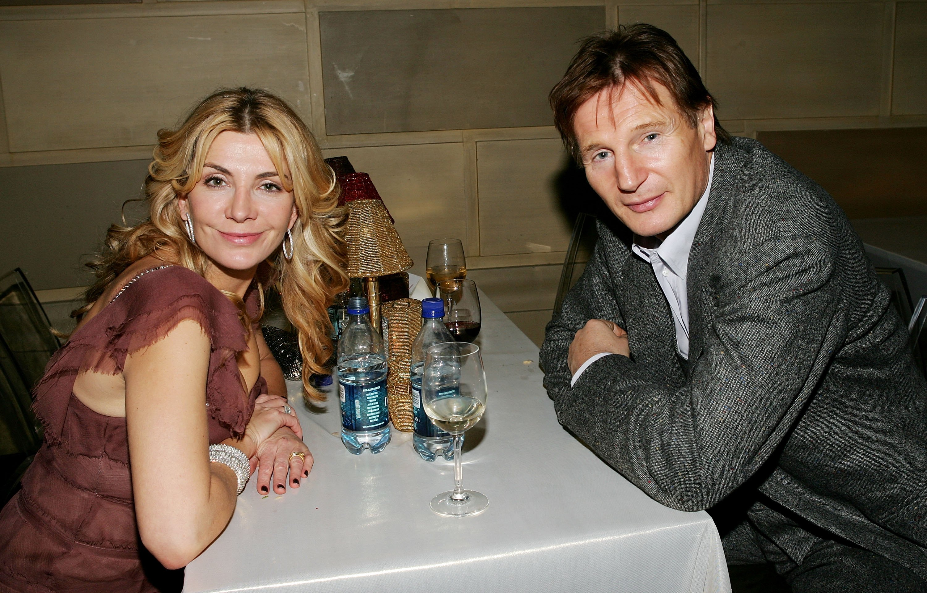 Actors Liam Neeson and wife Natasha Richardson attend the 'Dreamgirls' premiere after party at Gotham Hall December, 04 2006 in New York City.