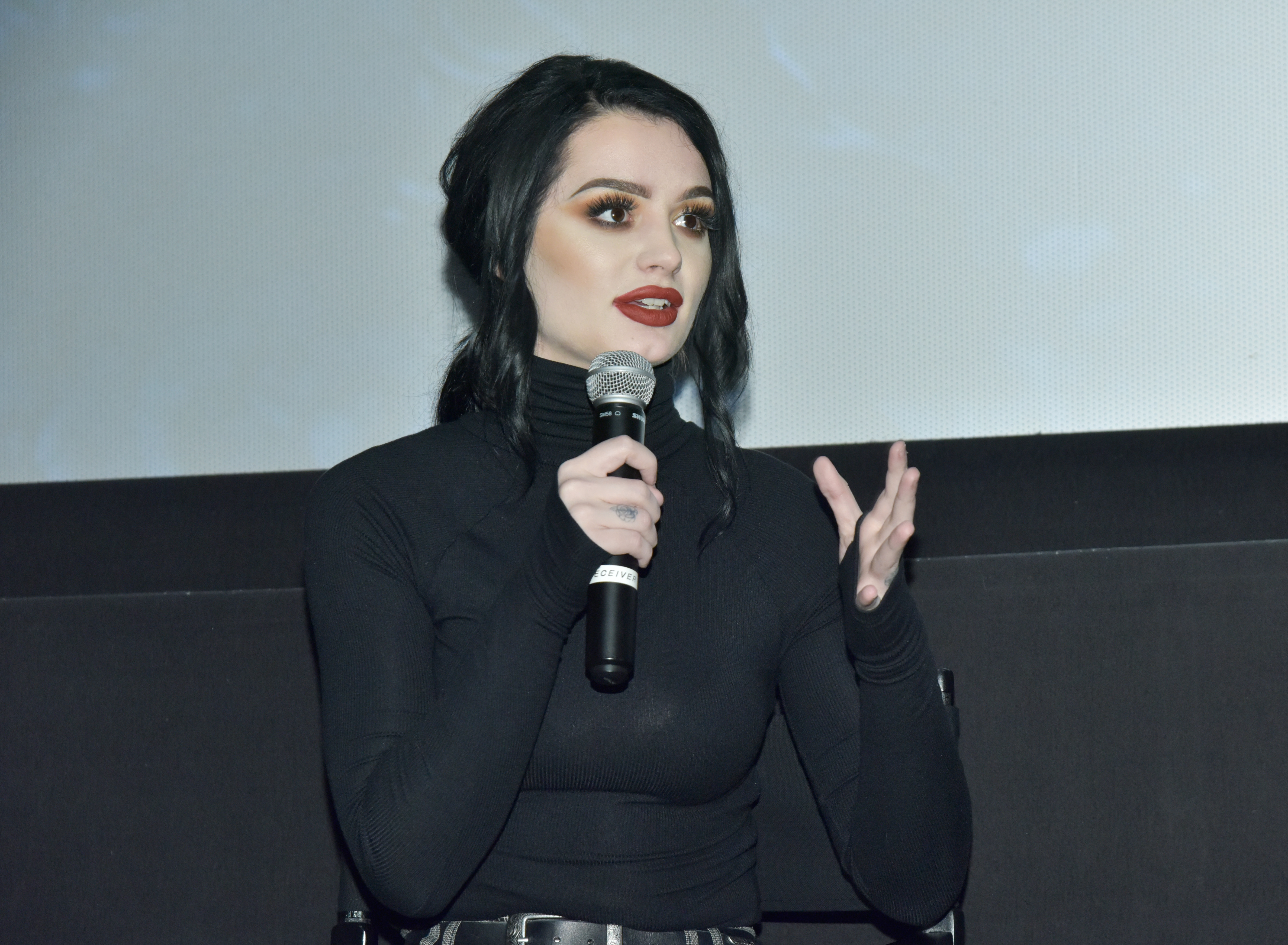 WWE Wrestler Paige speaks at MGM Studios, WWE, and SheIs special screening of 'Fighting With My Family' at AMC 34th Street on February 12, 2019 in New York City. (Getty Images)